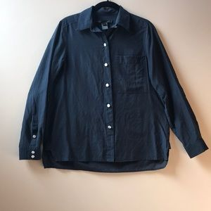 Marc by Marc Jacobs Navy Button-Down Shirt, size 0